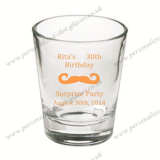 high quality colored wedding shot glass