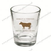 personalized elegant designed wedding shot glasses