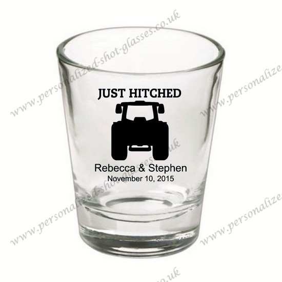 Bachelorette and wedding party shot glasses personalized