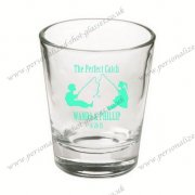 wedding party shot glasses with color printing