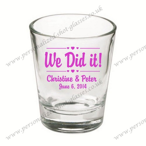 wholesale cheap fashion cup wedding shot glasses