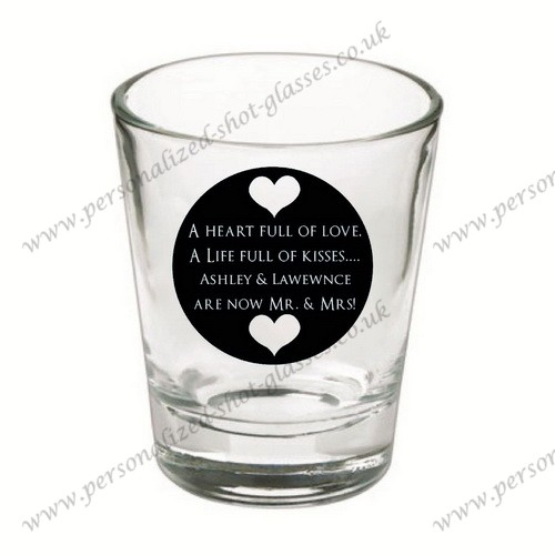 personalized printed glasses for wedding parties