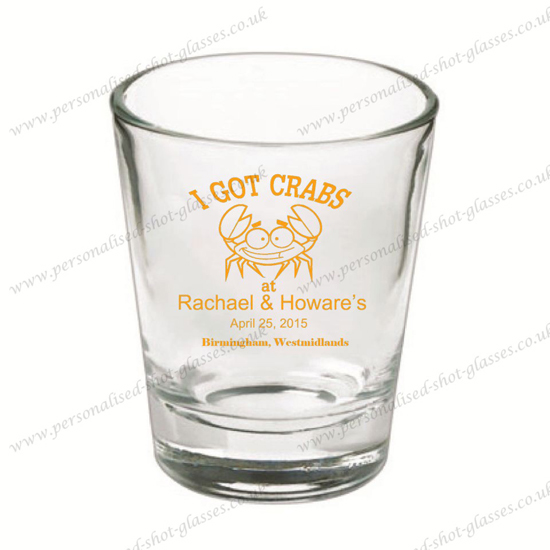 Wedding Shot Glasses.Beautiful Wedding Shot Glass With Printing Personalised Shot