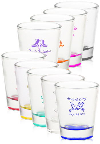 Wedding favor shot glasses personalized design for Personalized wedding favors cheap