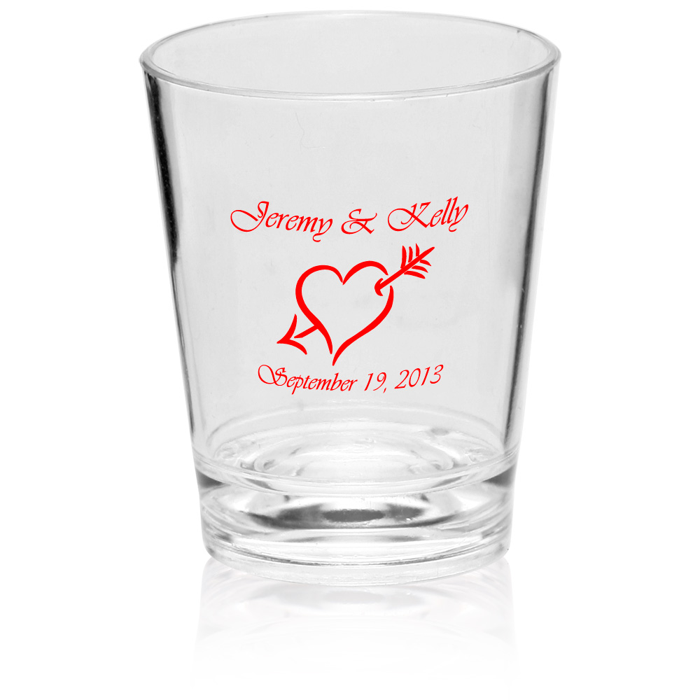 personalized shot glasses, party favours