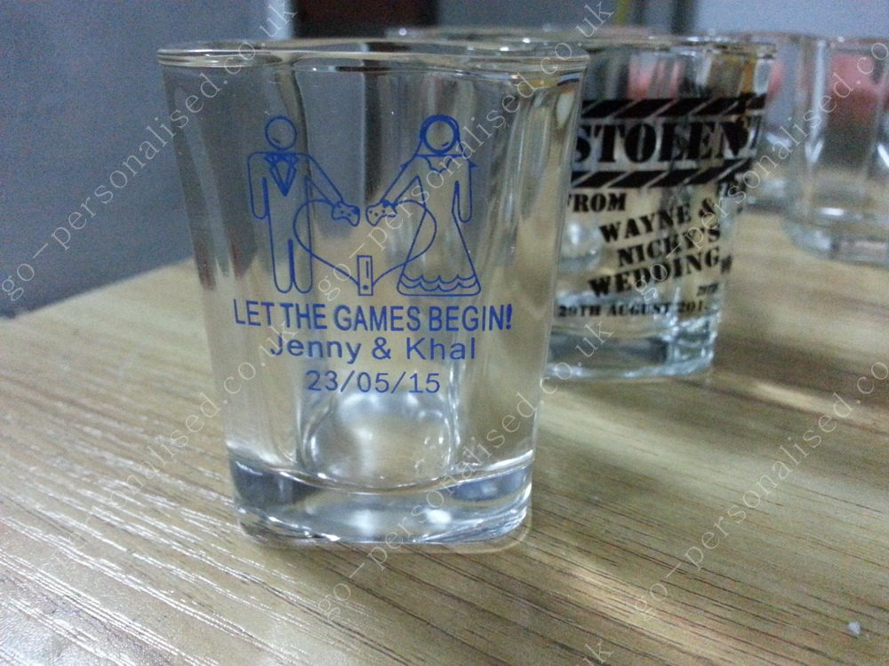 bar shot glasses, wedding favours uk