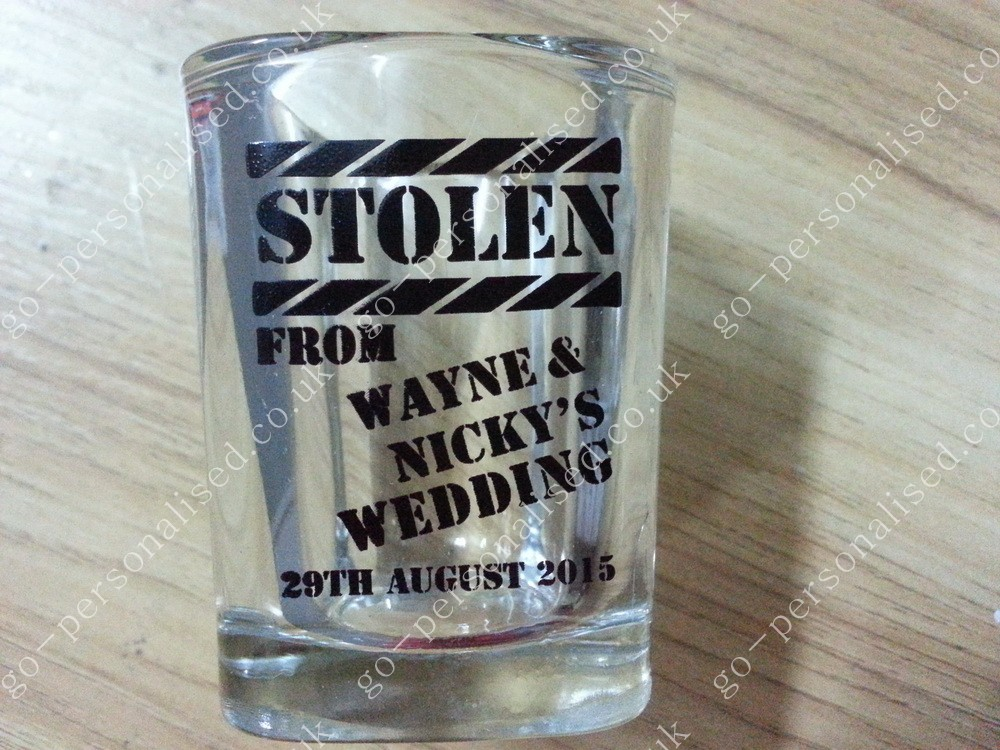 shot glasses, wedding gifts