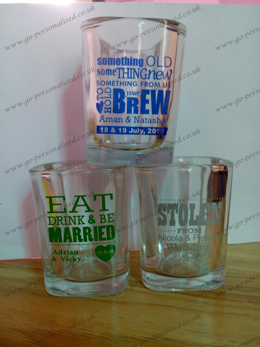 custom shot glasses, wedding favor
