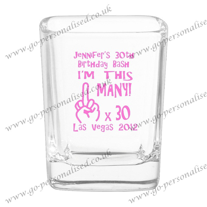 hign quality square crystal shot glass 004