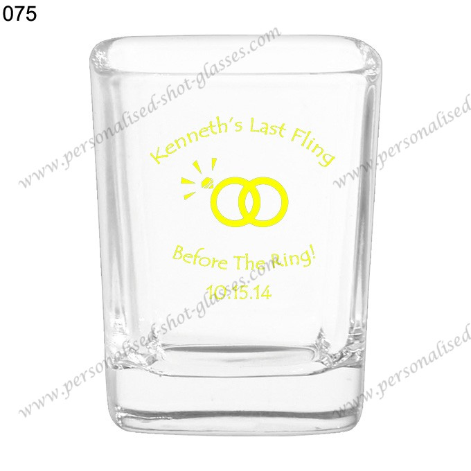 custom printed wedding shot glass 075