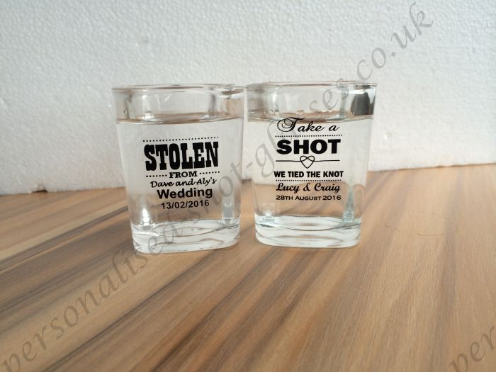 wedding personalized shot glass